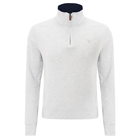 Buy Gant Sacker Zip-Up Jersey Top, Grey Online at johnlewis.com
