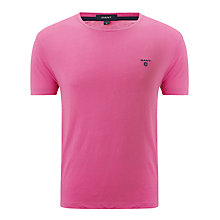 Buy Gant Contrast Logo T-Shirt, Pink Online at johnlewis.com