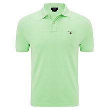 Buy Gant Pique Cotton Polo Shirt, Green Online at johnlewis.com