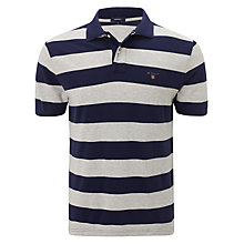 Buy Gant Barstripe Pique Cotton Polo Shirt Online at johnlewis.com