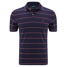 Buy Gant Breton Stripe Polo Top, Navy Online at johnlewis.com