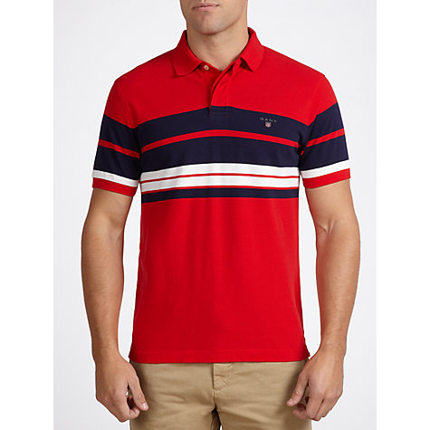 Buy Gant Striped Chest Polo Shirt Online at johnlewis.com