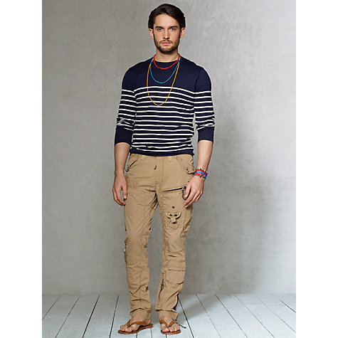 Buy Polo Ralph Lauren Breton Stripe Cotton Jumper, Navy Online at johnlewis.com