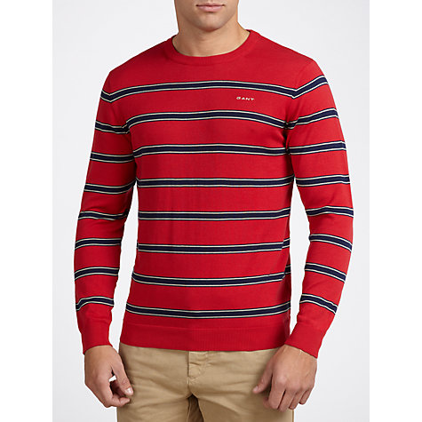Buy Gant Striped Cotton Jumper Online at johnlewis.com
