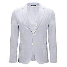 Buy Gant Seersucker Cotton Striped Blazer, Blue/White Online at johnlewis.com