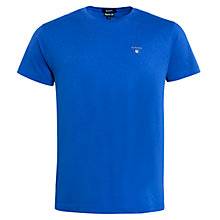 Buy Gant Plain Cotton T-Shirt, Blue Online at johnlewis.com