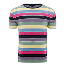 Buy Gant Multi-Stripe Cotton T-Shirt, Multi Online at johnlewis.com