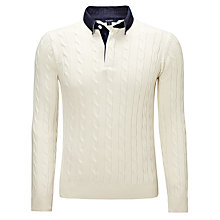 Buy Gant Cable Knit Rugby Top Online at johnlewis.com