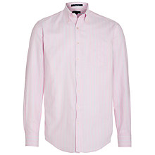 Buy Gant Poplin Cotton Striped Shirt, Pink Online at johnlewis.com
