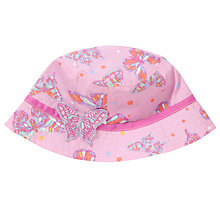 Buy John Lewis Girl Butterfly Print Sun Hat, Pink Online at johnlewis.com