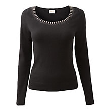 Buy East Beaded Neck Jumper Online at johnlewis.com