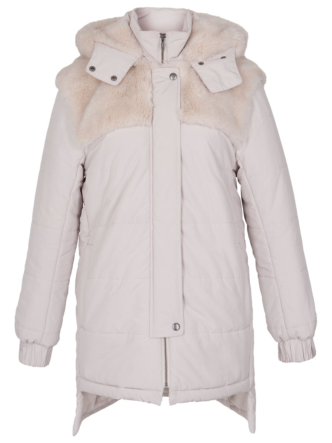 French Connection Bunny Quilted Coat, Snowball
