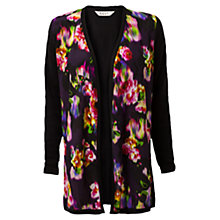 Buy East Ketana Silk Trim Cardigan, Purple Online at johnlewis.com