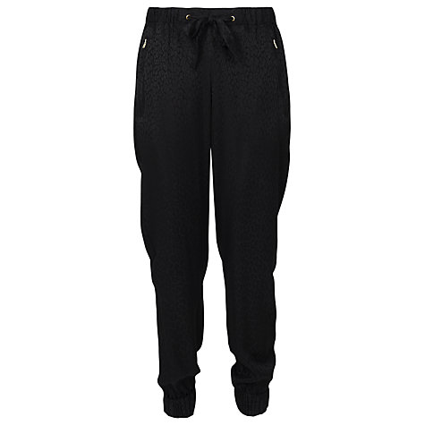 Buy French Connection Fast Liquid Leopard Trousers, Black Online at johnlewis.com