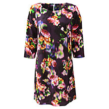 Buy East Ketana Silk Print Dress, Purple Online at johnlewis.com