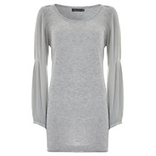 Buy Mint Velvet Chiffon Sleeve Cashmere Knit Top Online at johnlewis.com
