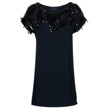Buy French Connection Icicle Storm Tunic Top, Utility Blue/Black Online at johnlewis.com