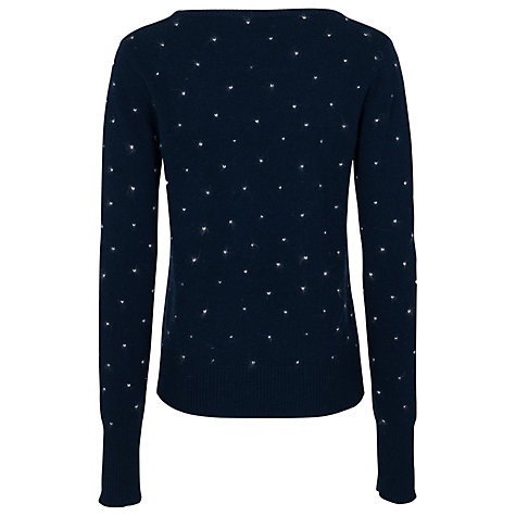 Buy French Connection Polar Crew Neck Jumper, Navy Online at johnlewis.com
