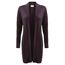 Buy East Sparkle Longline Cardigan, Black Plum Online at johnlewis.com