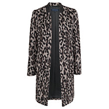 Buy French Connection Leopard Print Coat, Grey Leopard Online at johnlewis.com