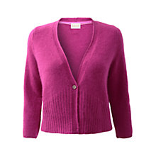 Buy East One Button Cardigan, Orchid Online at johnlewis.com