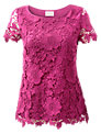 East Cap Sleeve Lace Top, Orchid