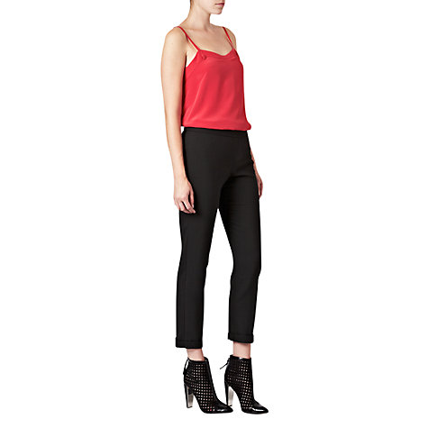 Buy French Connection Crystal Silk Top, Warm Crimson Online at johnlewis.com