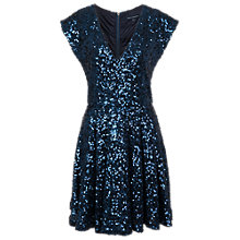 Buy French Connection Sparkle Dress, Bright Utility Blue Online at johnlewis.com