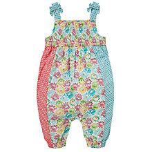 Buy John Lewis Patchwork Cotton Playsuit, Multi Online at johnlewis.com