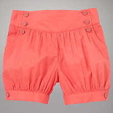 Buy John Lewis Baby Dobby Shorts, Coral Online at johnlewis.com