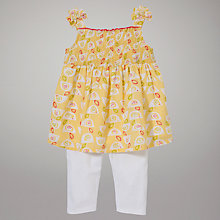 Buy John Lewis Baby Birdy Print Top & Leggings Set, Yellow/White Online at johnlewis.com