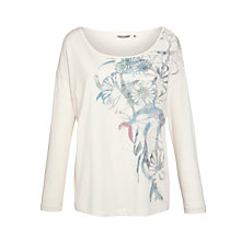 Buy Sandwich Floral Print Top, Floral White Online at johnlewis.com