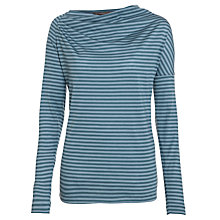 Buy Sandwich Stripe Cowl Jersey Top, Lake Blue Online at johnlewis.com