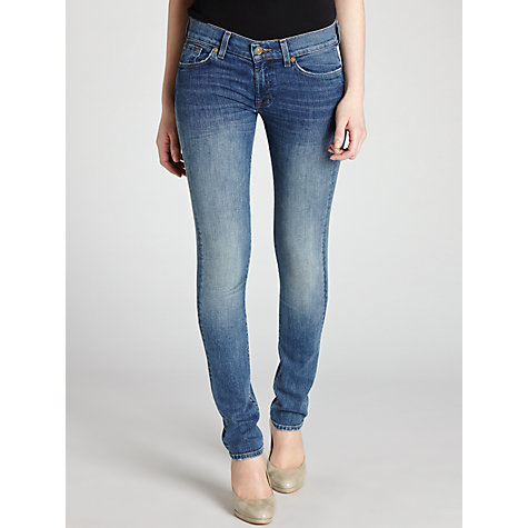 Buy 7 For All Mankind Roxanne Mid Rise Slim Jeans Online at johnlewis.com
