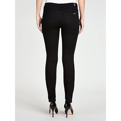 "Buy 7 For All Mankind Skinny Phoenix Jeans 30"", Black Online at johnlewis.com"