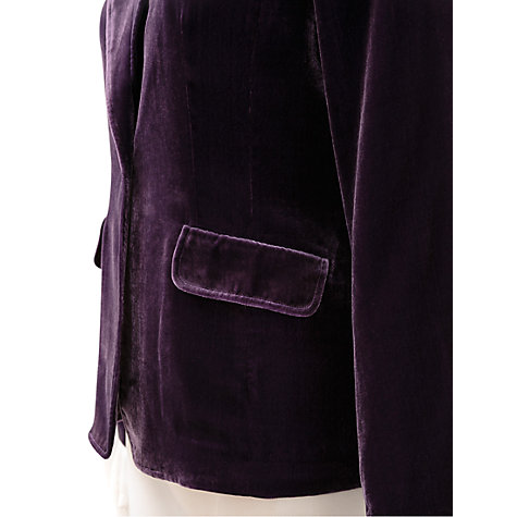 Buy East Silk Velvet Jacket, Black Plum Online at johnlewis.com