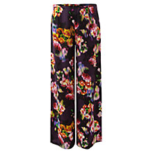 Buy East Ketana Print Palazzo Trousers, Purple Online at johnlewis.com