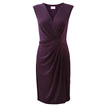 Buy East Drape Front Dress, Black Plum Online at johnlewis.com