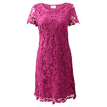 Buy East Lace Dress, Pink Orchid Online at johnlewis.com