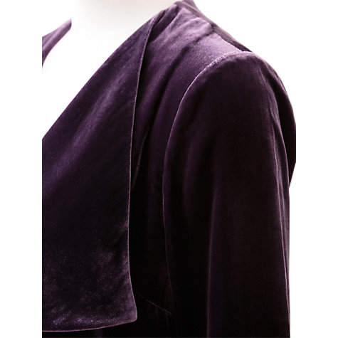 Buy East Long Velvet Jacket, Black Plum Online at johnlewis.com