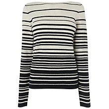 Buy Jaeger Irregular Stripe Sweater, Ivory Online at johnlewis.com