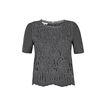 Buy Hobbs Isabella Top, Grey Melange Online at johnlewis.com