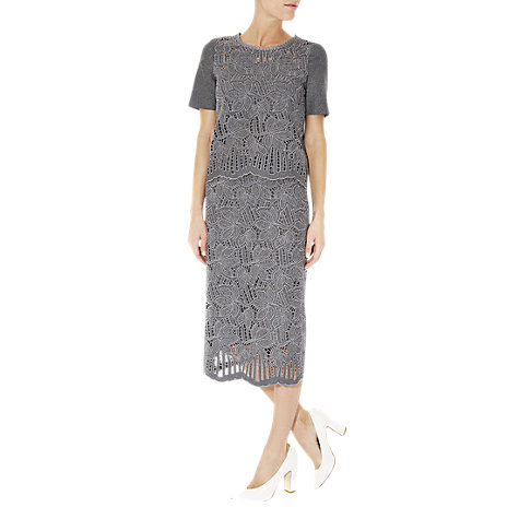 Buy Hobbs Isabella Skirt, Grey Melange Online at johnlewis.com