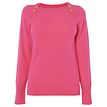 Buy Jaeger Button Shoulder Jumper Online at johnlewis.com