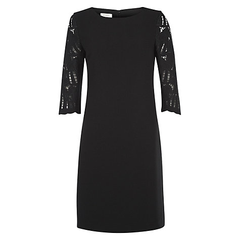 Buy Hobbs Isabella Dress, Black Online at johnlewis.com