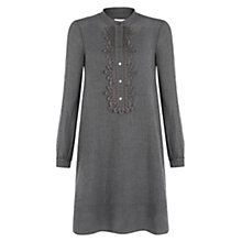 Buy Hobbs Izzy Shirt Dress, Light Grey Online at johnlewis.com