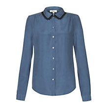 Buy Hobbs Mable Top, Heron Blue Online at johnlewis.com