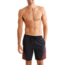 Buy Speedo BV Graphic Watershort Swim Shorts, Navy/Red Online at johnlewis.com