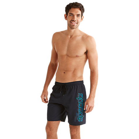 "Buy Speedo BV Graphic 18"" Watershort Swimshorts, Blue Online at johnlewis.com"