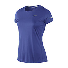 Buy Nike Miler Crew Neck T-Shirt, Purple Online at johnlewis.com